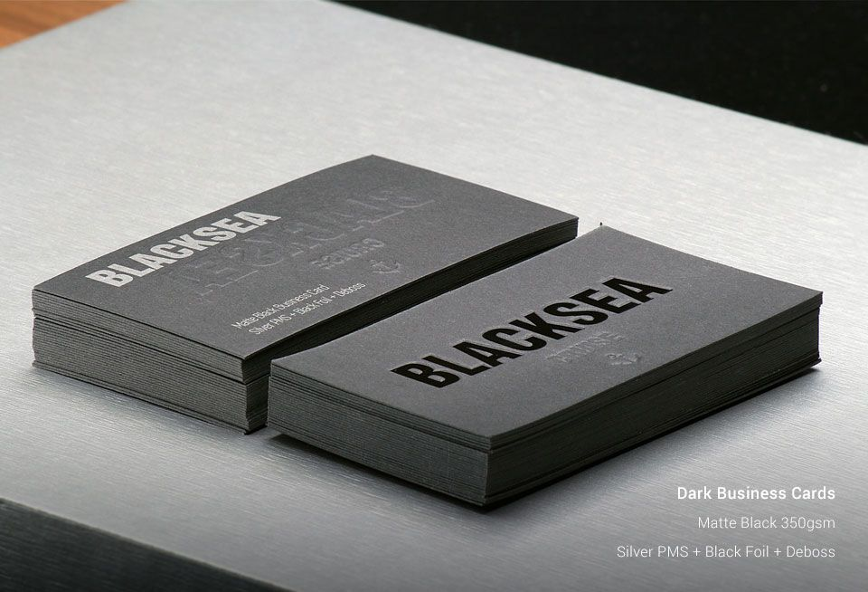 Dark Business Cards In Uk 200 Cards At 163 15 56