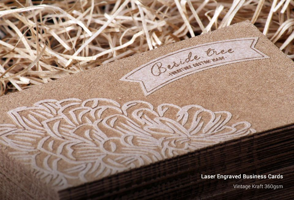 Laser engraved business cards stickermarket reheart Image collections