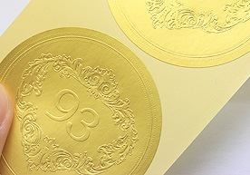 Kent Custom Embossed Paper Stickers Printing