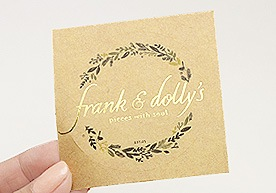 Kent Custom Kraft Paper Stickers Printing