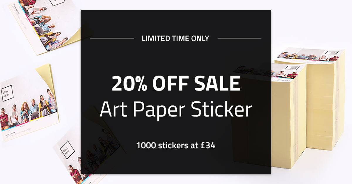 Art paper stickers uk best selling and cheapest paper sticker printing with matte or gloss finish stickermarket
