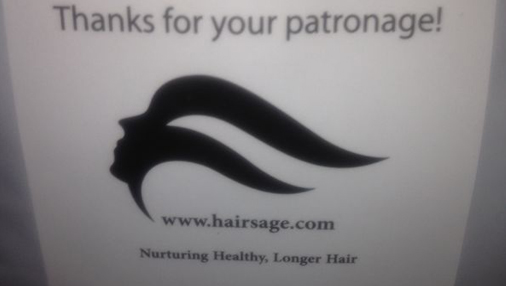 Hairsage Packaging Stickers